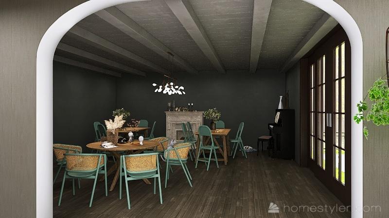 U2A6 Coffee House Lalonde, Neva Interior Design Render