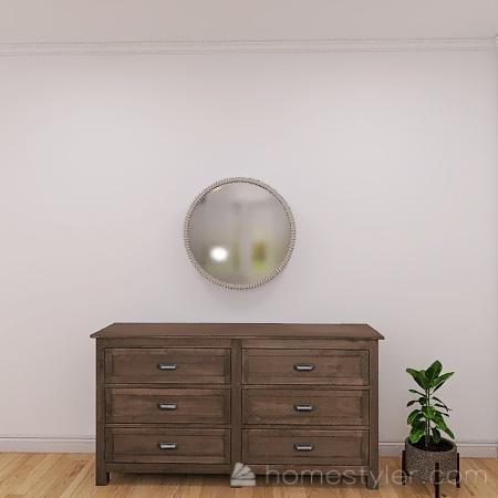 Cute Little Girl's Bedroom Interior Design Render