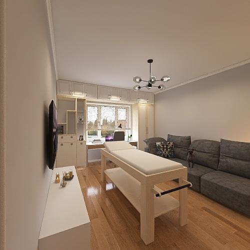 Гостиная с доработкой Interior Design Render
