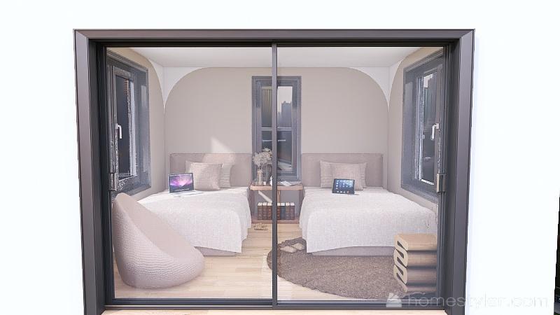 2 teen girls bedroom (2) Interior Design Render
