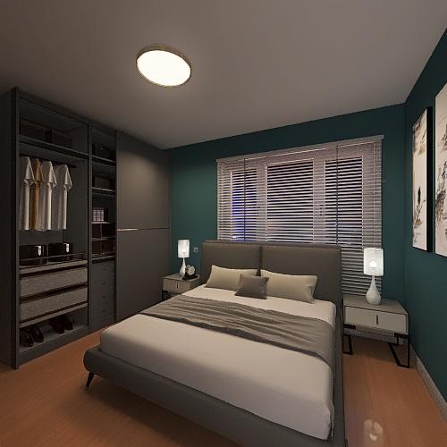 Departamento 80m2 Interior Design Render