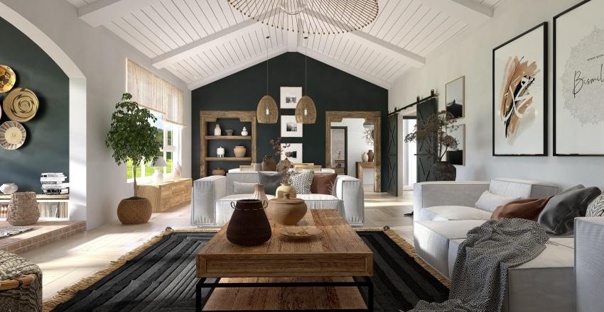 Reforma de pequeña granja Interior Design Render
