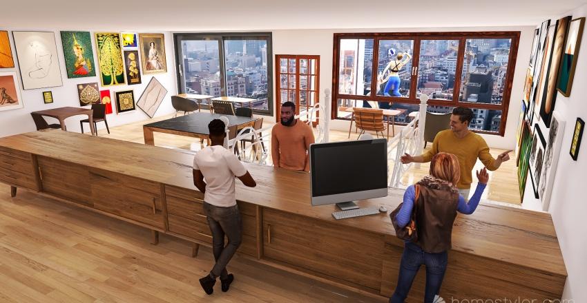 U2A6 Coffee House Gillespie, Michael Interior Design Render