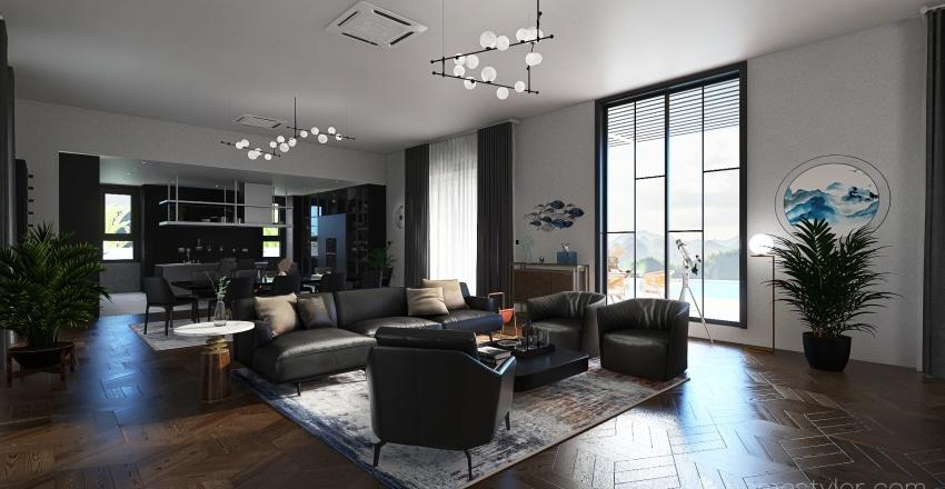 Mountain Villa Interior Design Render