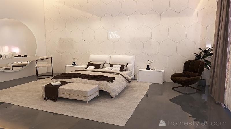 Quarto 2 Interior Design Render