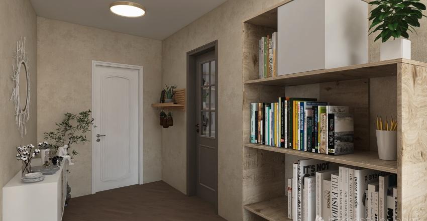 Two friends appartment Interior Design Render