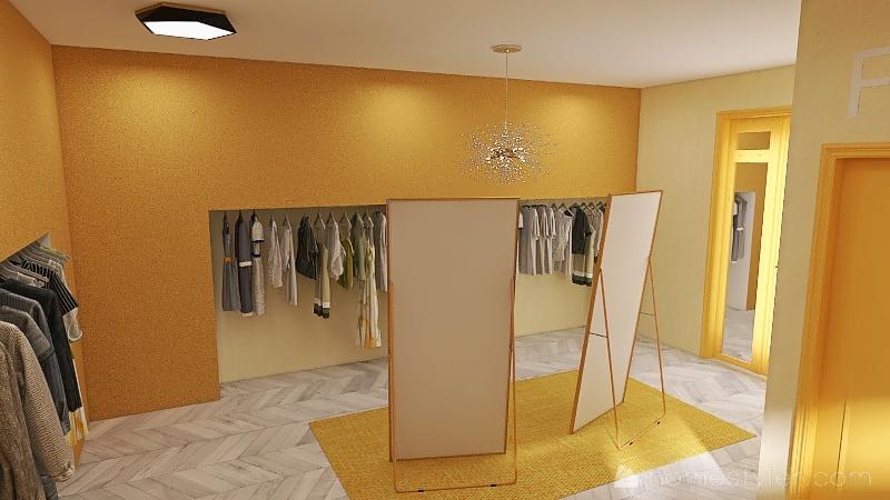 Clothing Store Interior Design Render