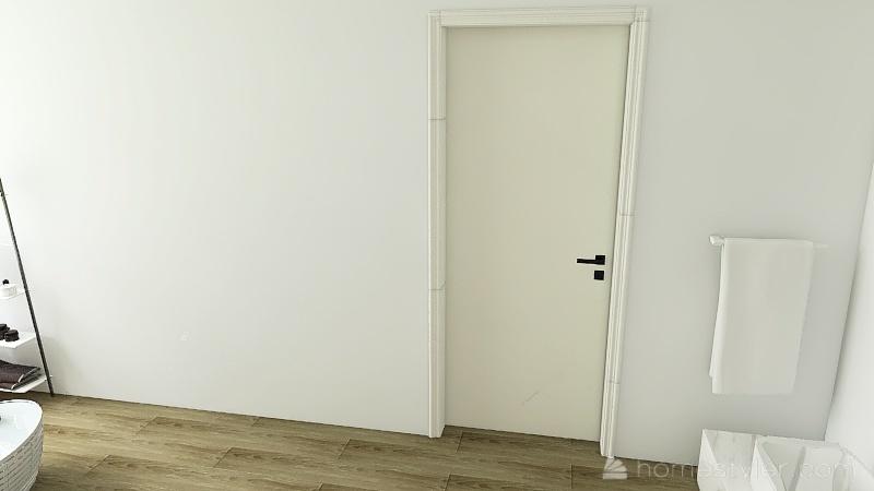 black white and grey Interior Design Render