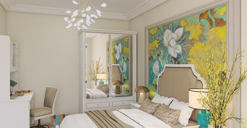 Dormitor fetita Interior Design Render
