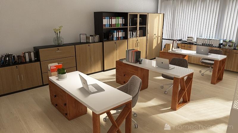 Office Nattinew Interior Design Render