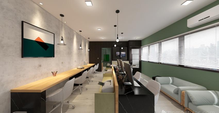 Simbioffice Coworking Interior Design Render