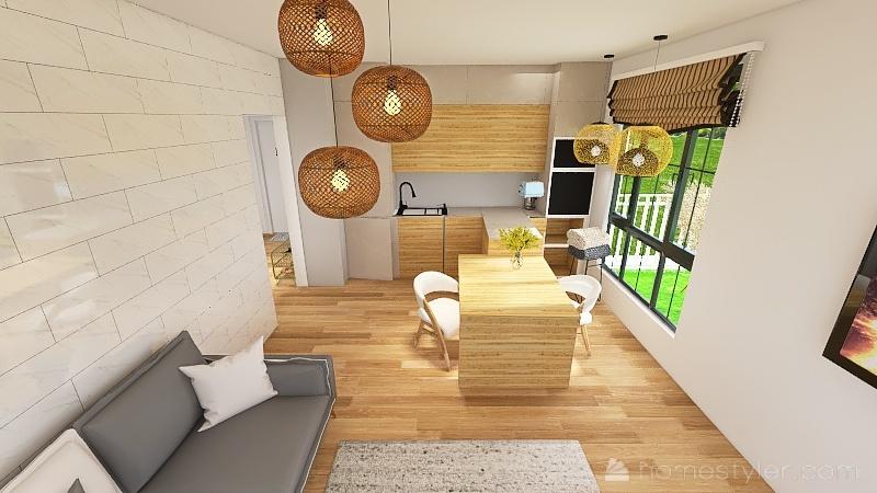 Living - new table, Terasse Interior Design Render