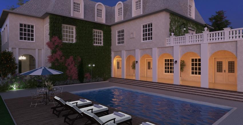 Casa Francesa de Campo Interior Design Render