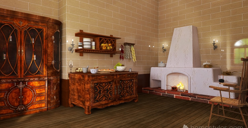 Medieval castle Interior Design Render