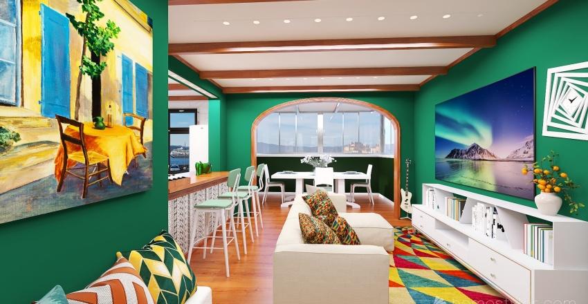 green hause Interior Design Render