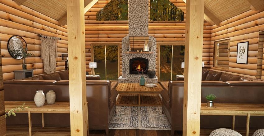 Shannon B Cabin Interior Design Render