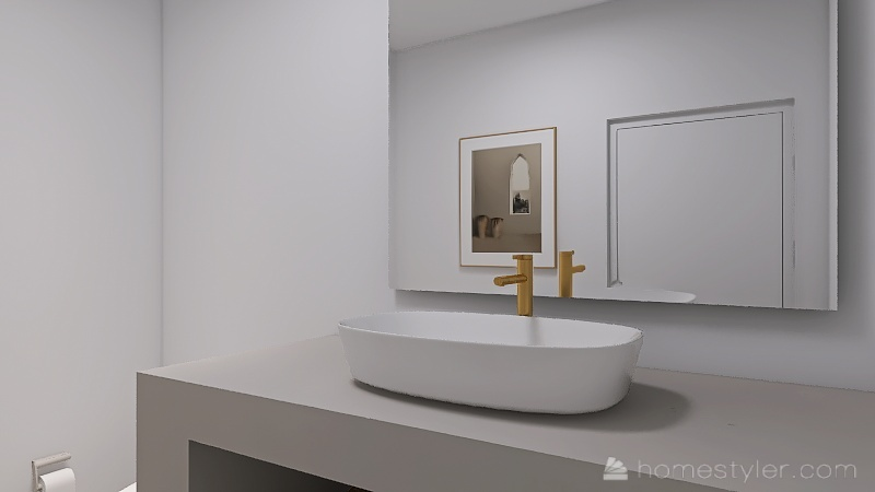 Minimalist Beach house Interior Design Render