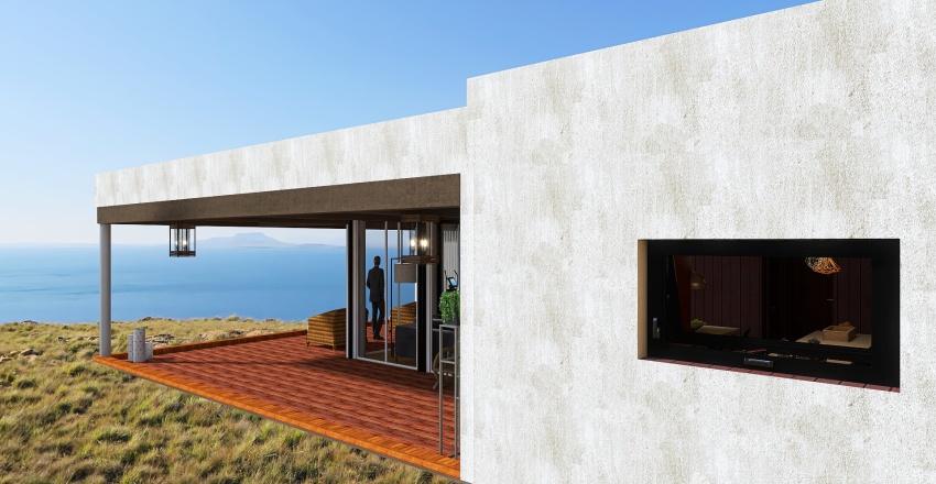 Malibu Inspired Modern Home Interior Design Render