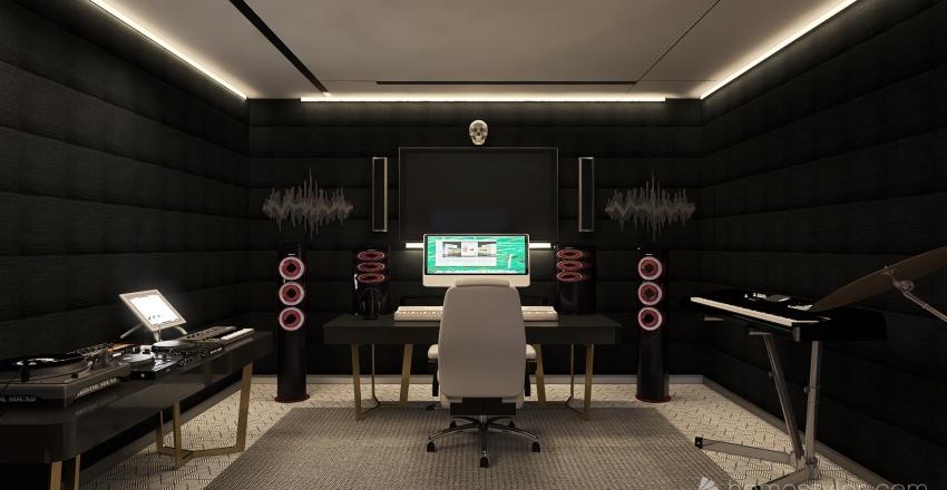 Home studio Interior Design Render