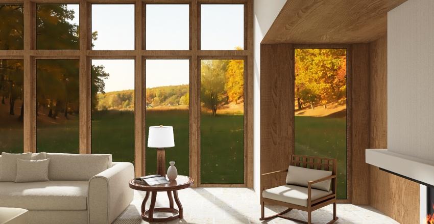 Contemporary Arts & Crafts Interior Design Render