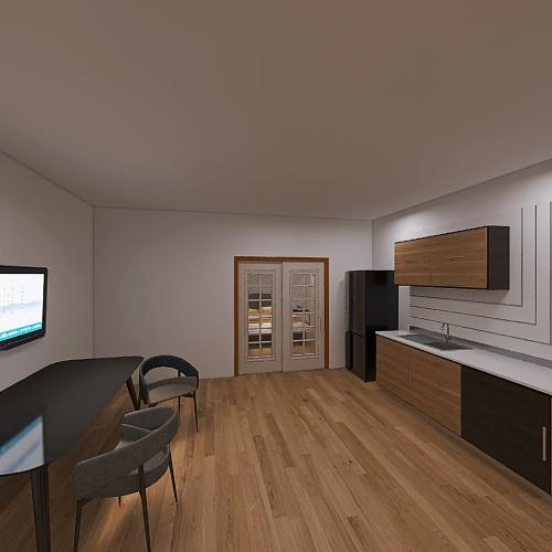 Copy of Small classic hotel room Interior Design Render