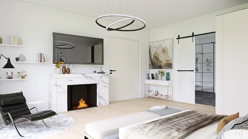 When modern meets Suburban area Interior Design Render