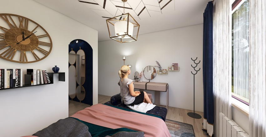 The Contemporary and Mod Enthusiast Bedroom Interior Design Render