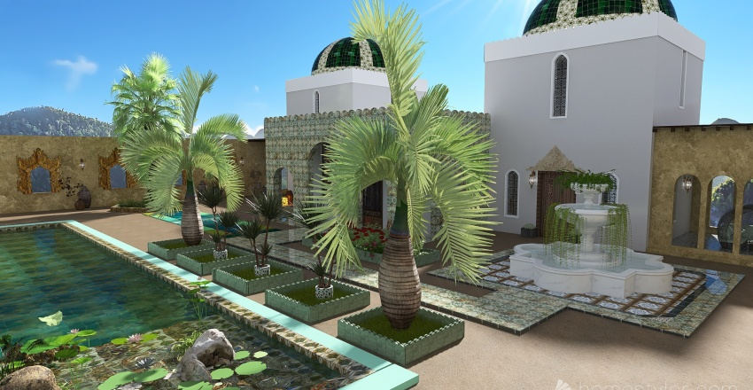 Mon petit palais oriental Interior Design Render