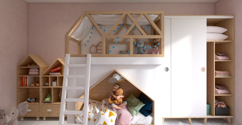 QUARTO INFANTIL FEM 01 Interior Design Render