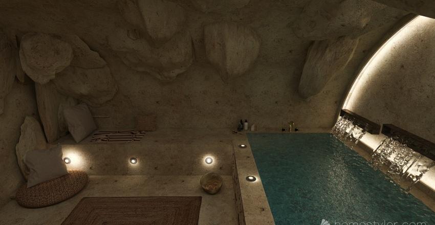 Cave Spa Interior Design Render