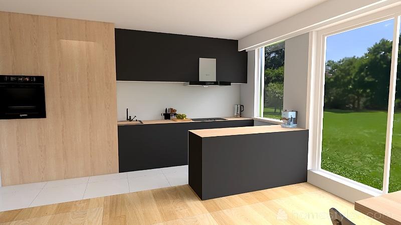 Biała łazienka Interior Design Render