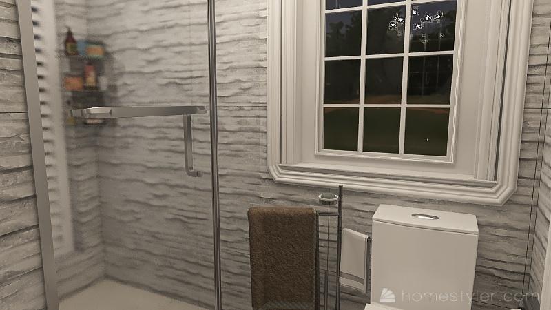small coastal home Interior Design Render