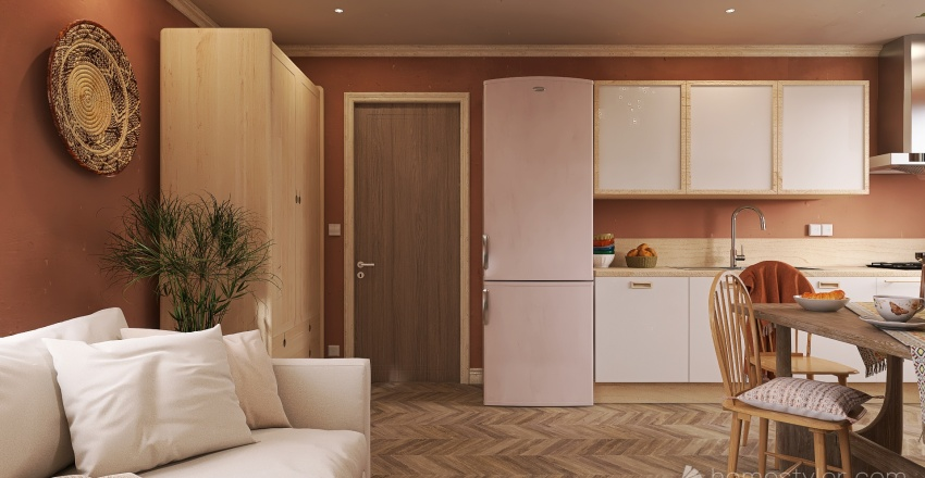 49 Sqm Interior Design Render