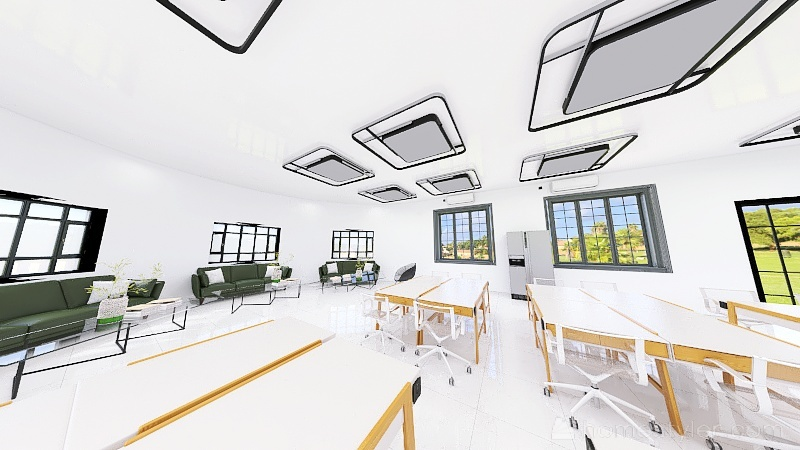 ´Dimitris Classroom Interior Design Render