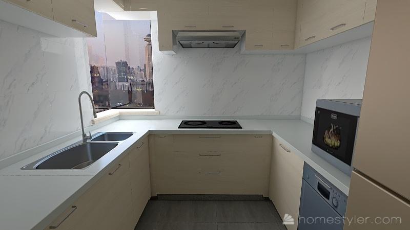 Harbour Heights - Kitchen Interior Design Render