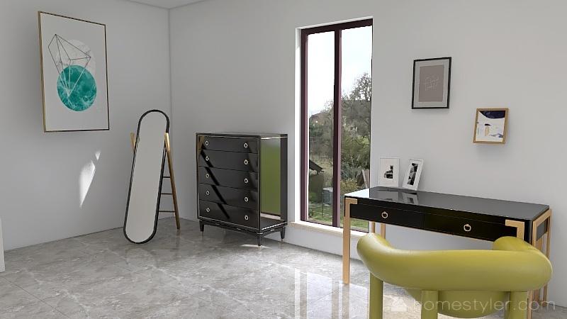 Bedroom Of Minimalism Interior Design Render