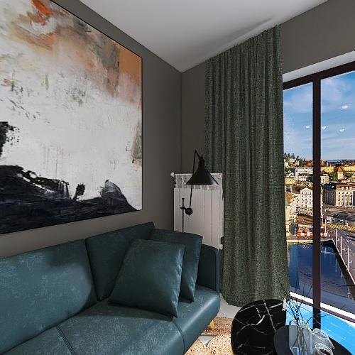 Small apartment for couple. Interior Design Render