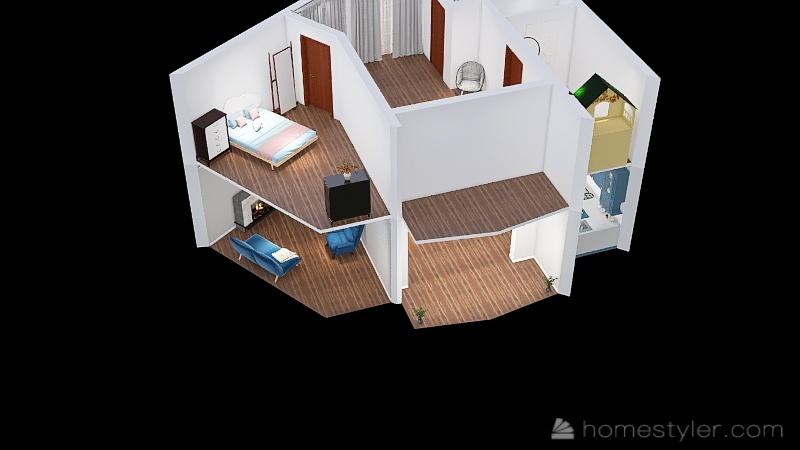 Copy of Casa D. Técnico Interior Design Render