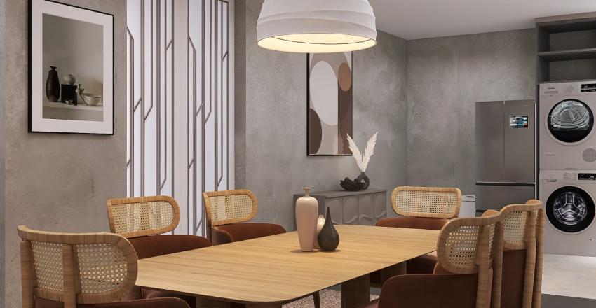Japandi x Wabi-Sabi Interior Design Render