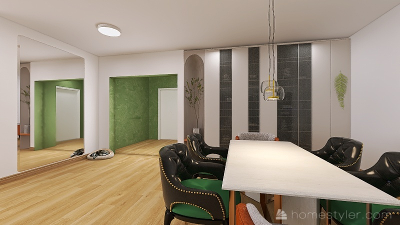 Cactus Apartment Interior Design Render