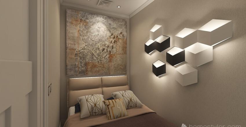 Mini houses Interior Design Render