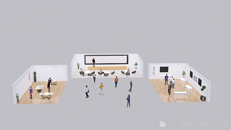 Business Exhibition - AAU Interior Design Render