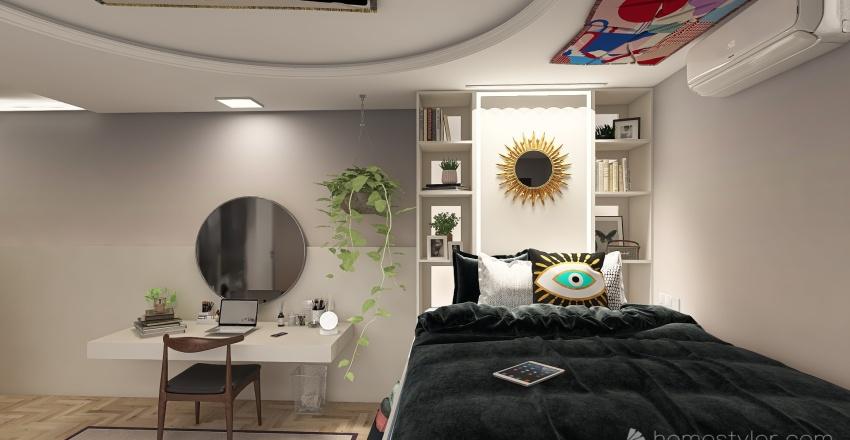 teenage bedroom Interior Design Render