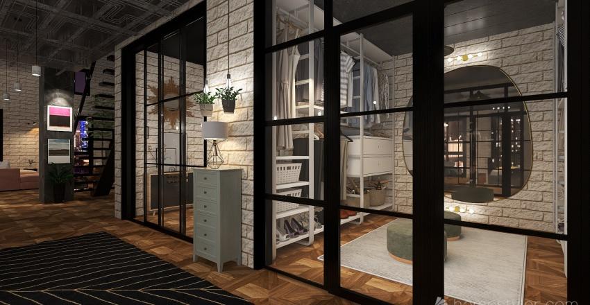 Duplex industrial Interior Design Render