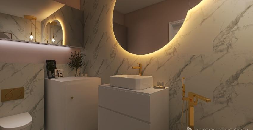 Beauty beige  Interior Design Render