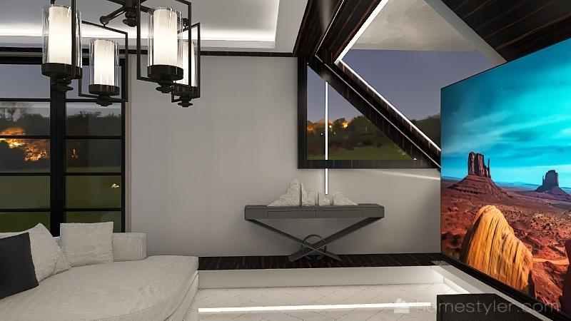 Little sittingroom Interior Design Render