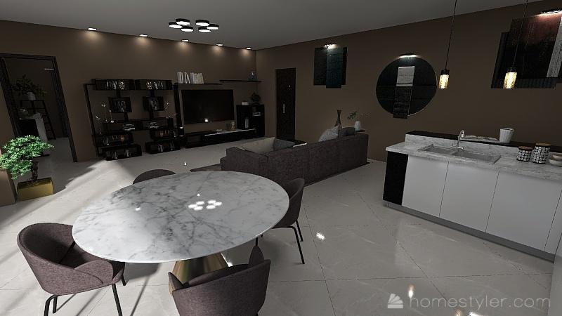 casa singola Interior Design Render