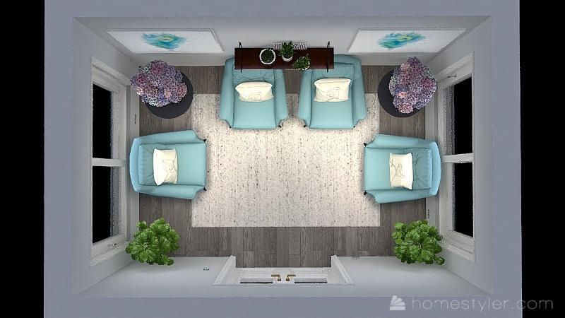 comfortable waiting room Interior Design Render