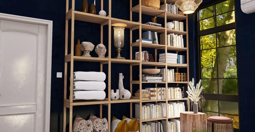 Santa Fe Inspired Dwelling  Interior Design Render
