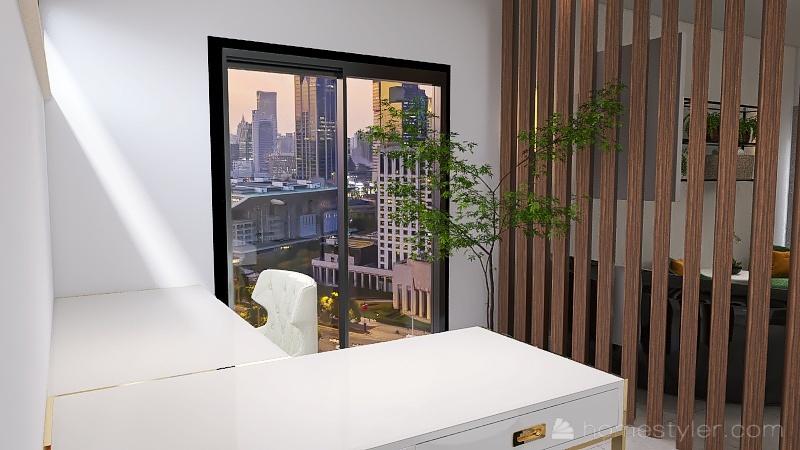 Projeto Salão Interior Design Render